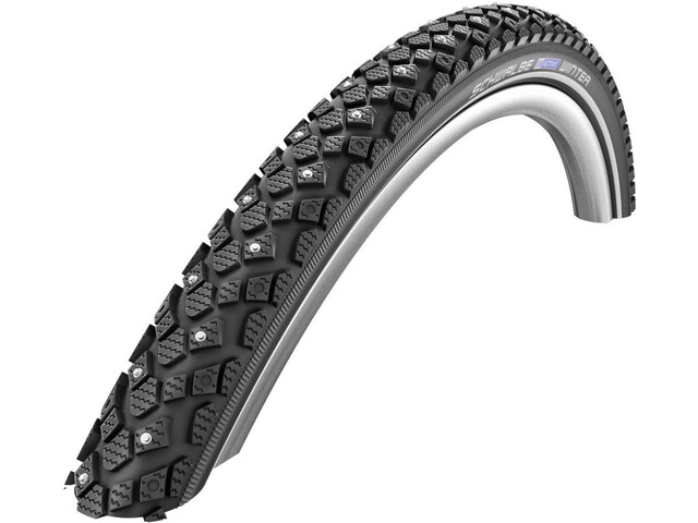 "SCHWALBE Winter Cubierta Carretera Alambre 18"" K-Guard Active Reflex, black"